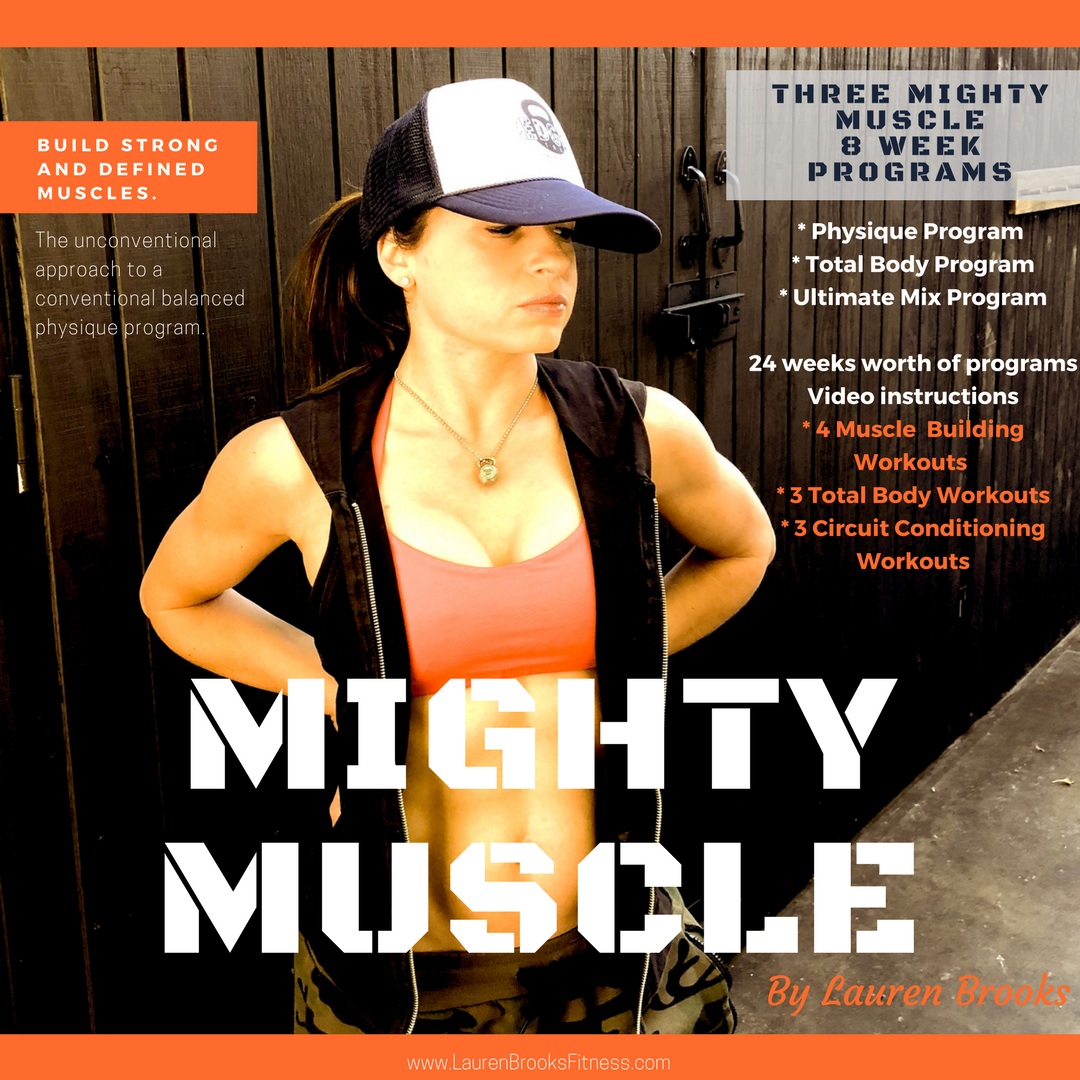MIGHTY MUSCLE - Strong and Defined Muscles - 6 months worth of programs