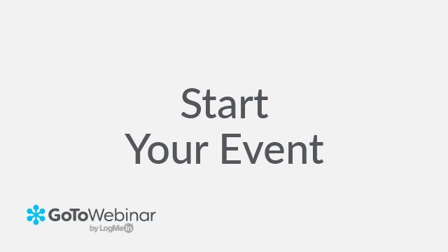 Step Three: Start the Event