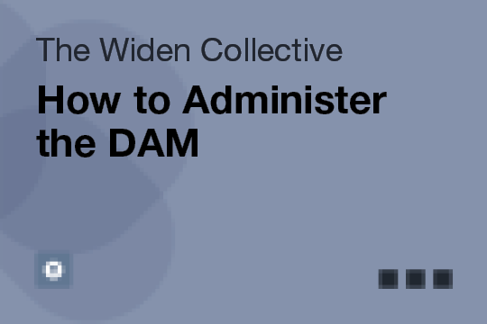 How to Administer the DAM