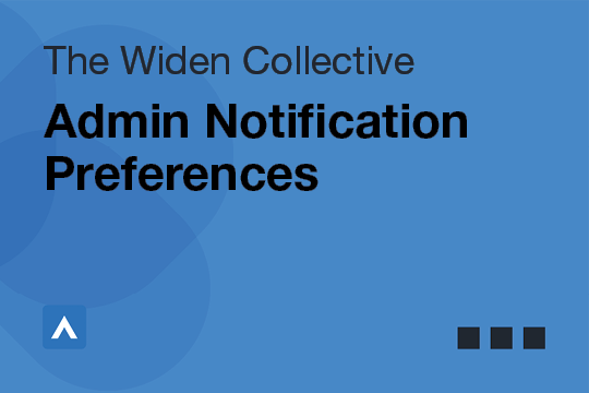 Admin Notification Preferences