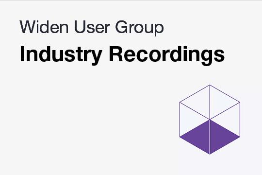 Recorded Industry WUG Meetings