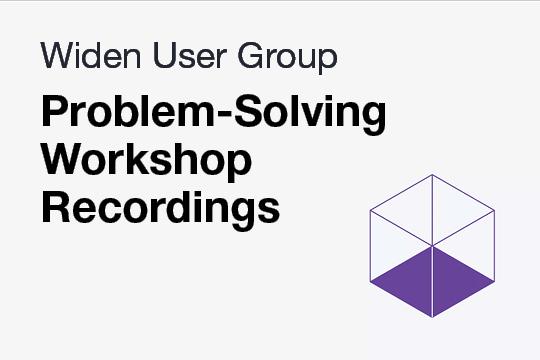 Recorded Problem-Solving Workshop WUG Meetings