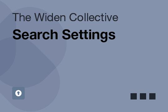 Search Settings