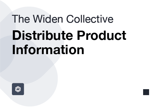 Distribute Product Information