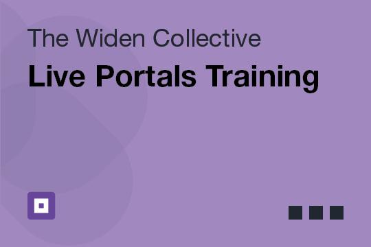Live Portals Training