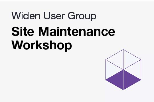 WUG: Site Maintenance Workshop