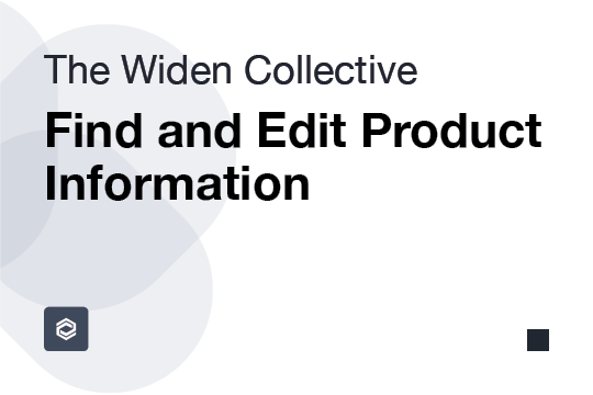 Find and Edit Product Information