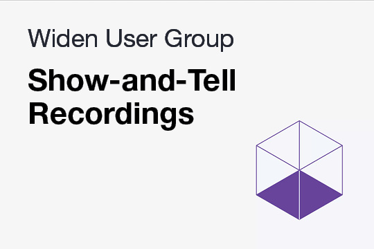Recorded Show-and-Tell WUG Meetings