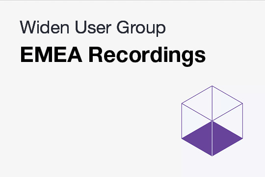 Recorded EMEA WUG Meetings