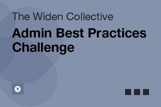 Admin Best Practices Challenge