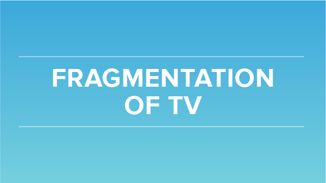 Fragmentation of TV