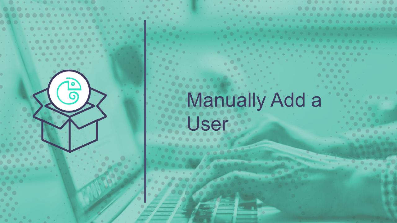 Manually Add a User