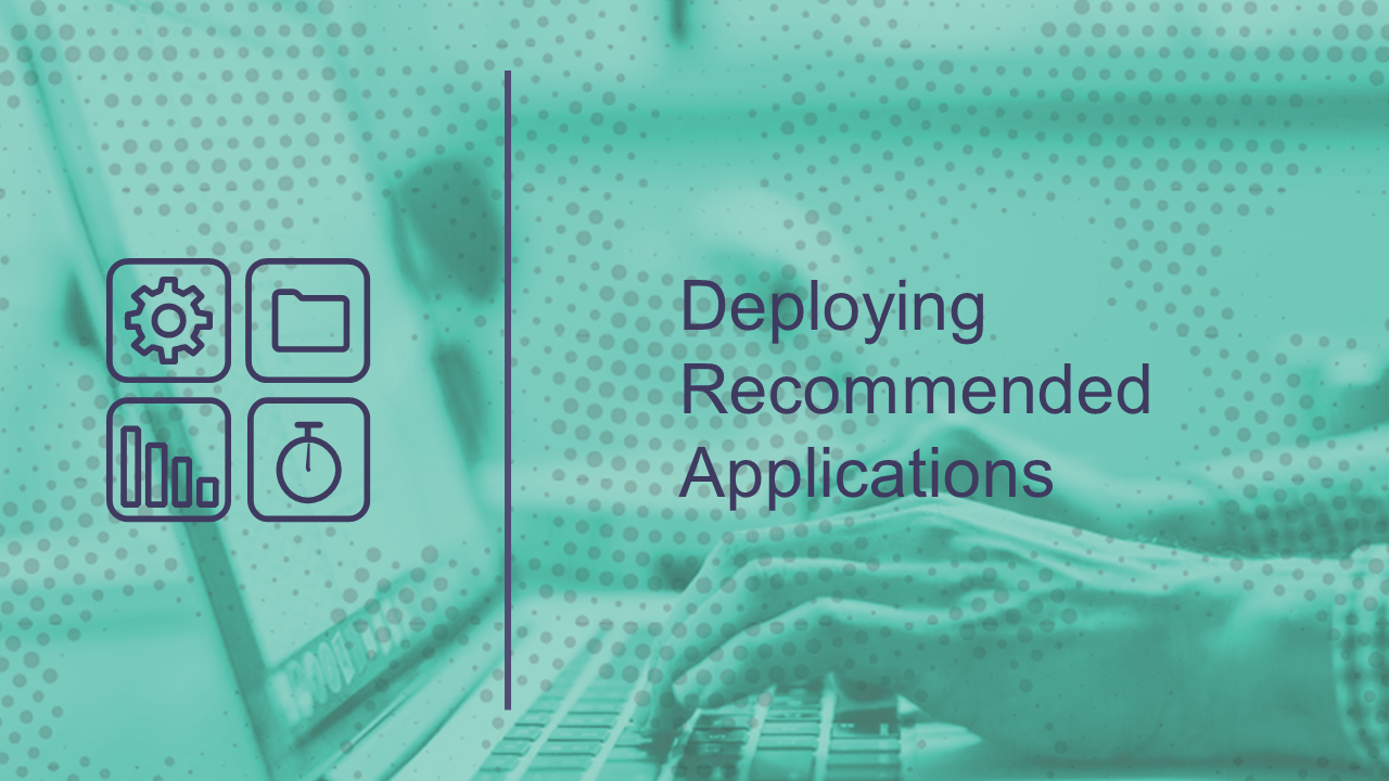 Deploying Recommended Applications