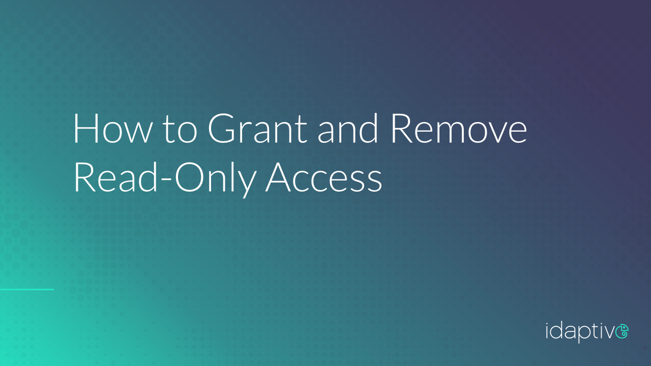 How to Grant and Remove Read-Only Access for Support