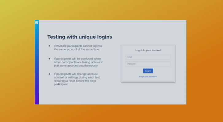 Testing With Unique Logins