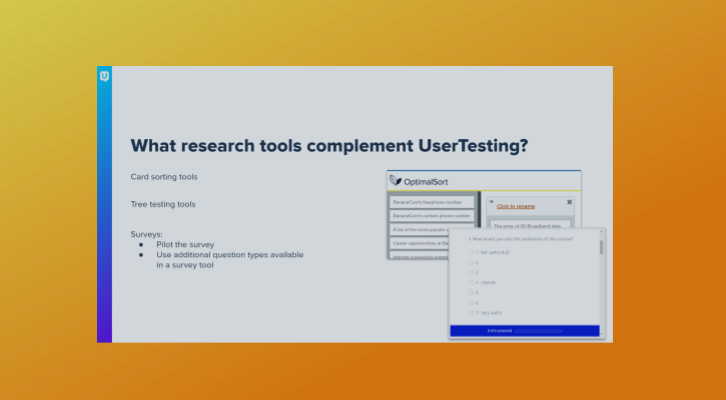 Pairing Other Research Tools with UserTesting