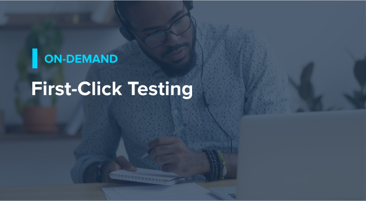First-click Testing