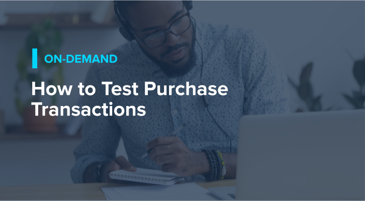How to Test Purchase Transactions