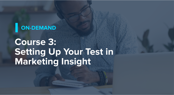 Course 3: Setting Up Your Test in Marketing Insight