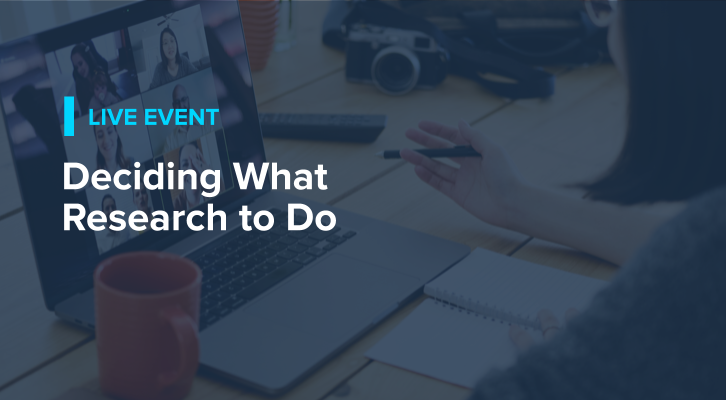 Deciding What Research to Do (live)