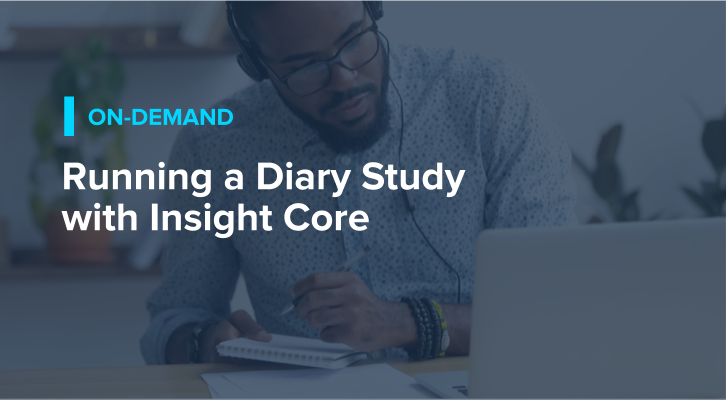 Running a Diary Study with Insight Core