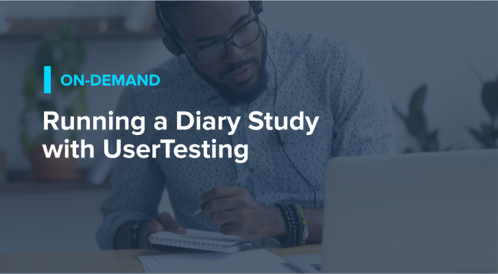 Running a Diary Study with UserTesting