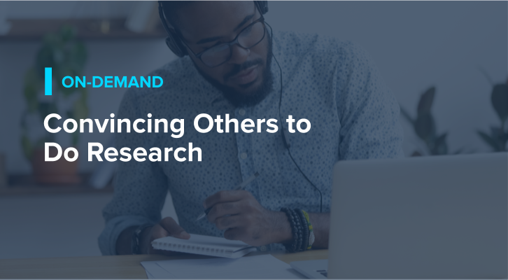 Convincing Others to Do Research