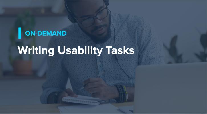 Writing Usability Tasks