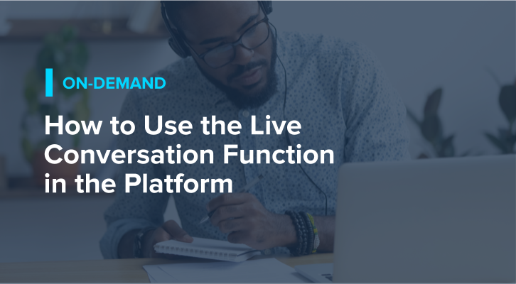How to Use the Live Conversation Function in the Platform