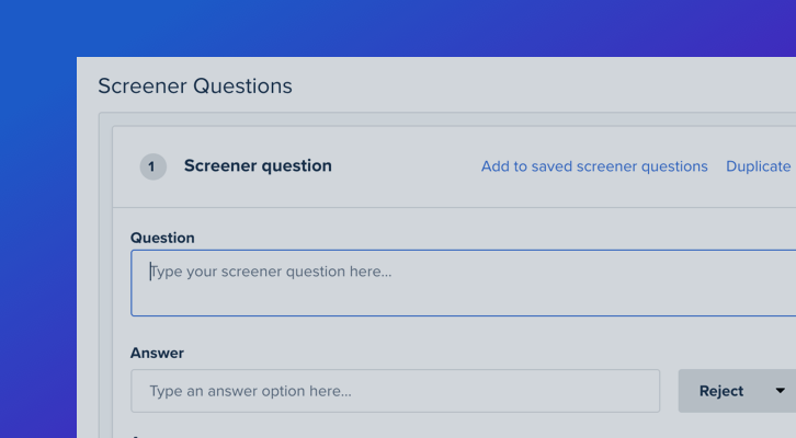 Best Practices for Screeners