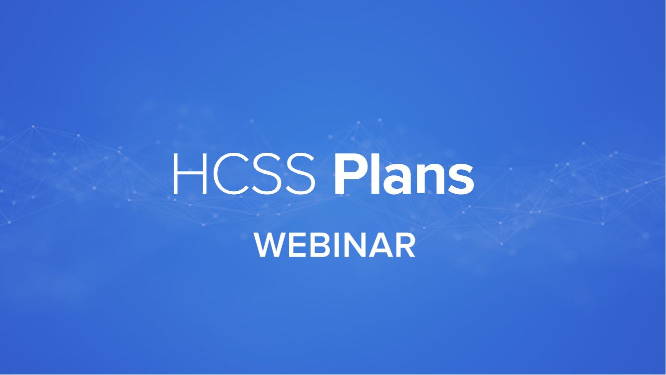 Getting Started with HCSS Plans