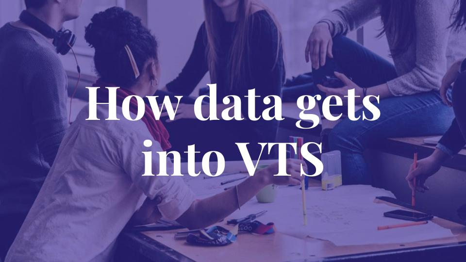 How data gets into VTS