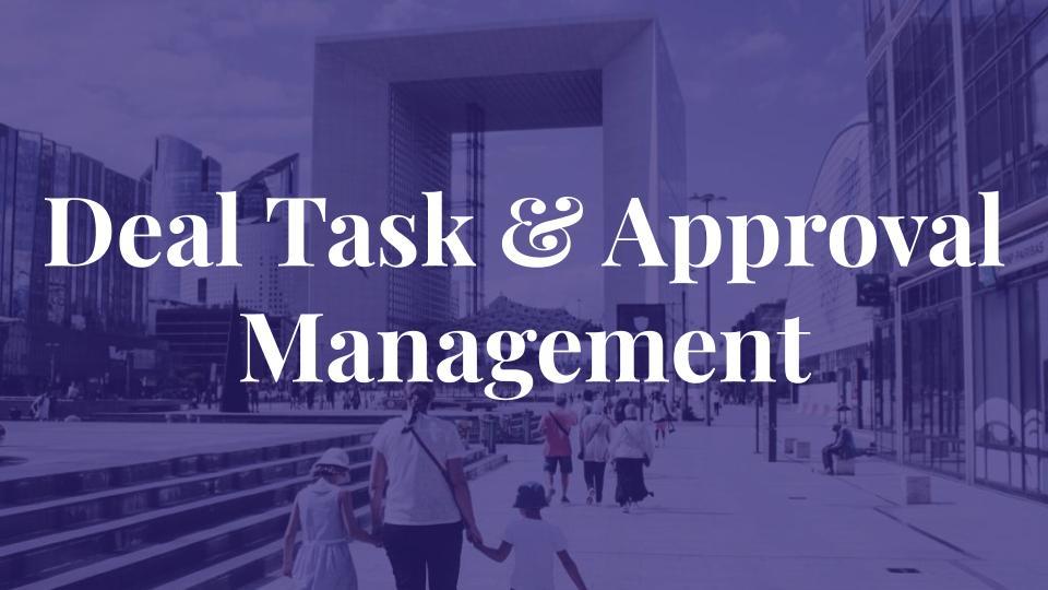 Deal Task & Approval Management