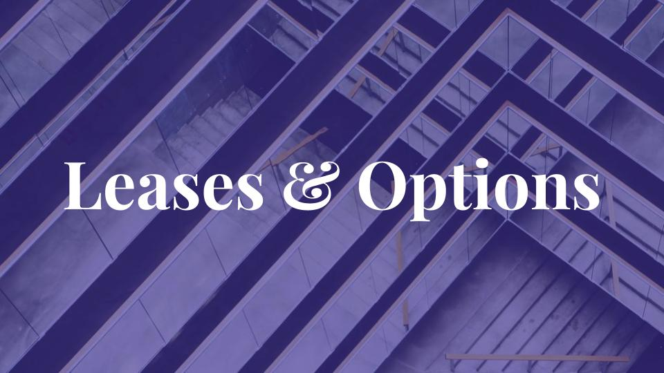 Leases & Options