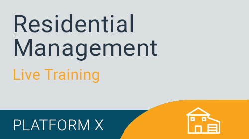 Residential Management - Live Training Series