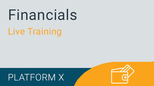 Financials - Live Training Series