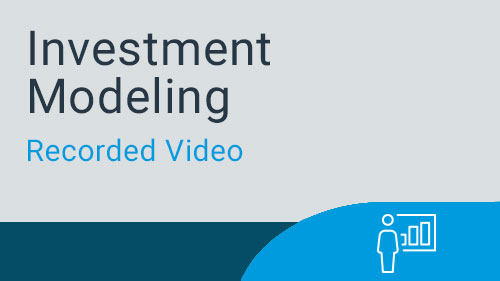 Investment Modeling - Video Series