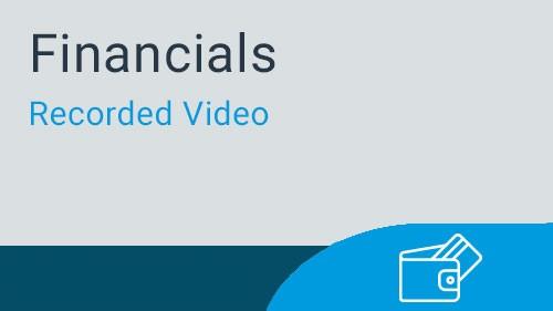 Financials - Video Series