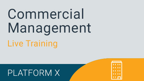 Commercial Management - Budgeting and Forecasting CM Build Live Training