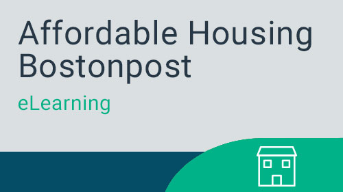 Affordable Housing Bostonpost - Agency Transmissions eLearning Course