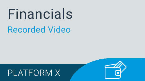 Financials - Adding a General Ledger Account Video