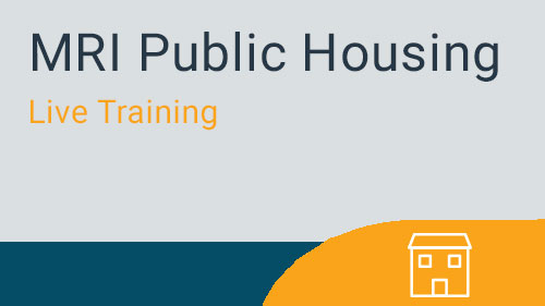 Public Housing - Submissions for Public Housing, USDA, and LIHTC Live Training