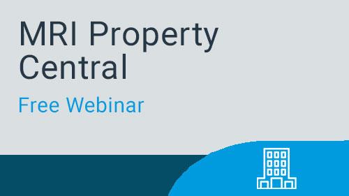 Free Webinar - MRI Property Central - Master Data