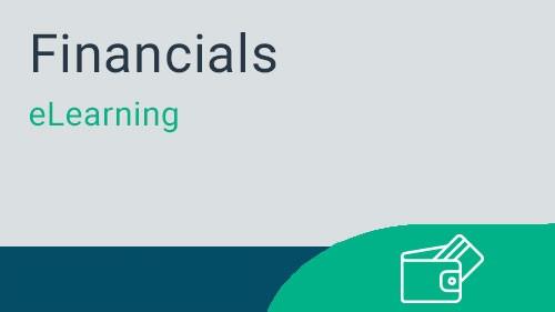 Financials - General Ledger Journal Entries eLearning v4.5
