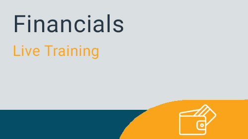 Financials - Job Cost Advanced Live Training
