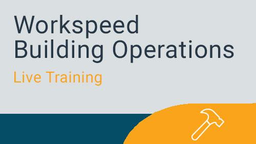 Workspeed Building Operations - Preventative Maintenance Live Training