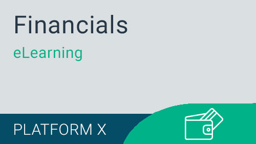 Financials - Introduction to General Ledger eLearning Version X