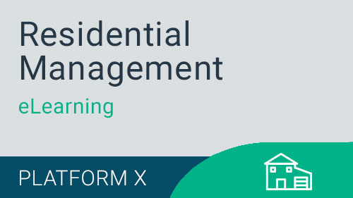 Residential Management - Working with Residents eLearning Version X