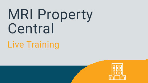 Setup & Master Data - MRI Property Central Tenants & Leases