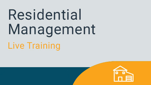 Residential Management - Residential and Financials Month End Processing  Live Training